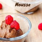 vegan chocolate mousse pin
