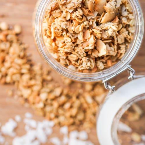 Nut-Free Granola Recipe {Vegan, Gluten-free, Refined Sugar-free}