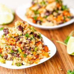 Vegan Sweet Potato Black Bean Quinoa Salad Recipe {Gluten-Free}
