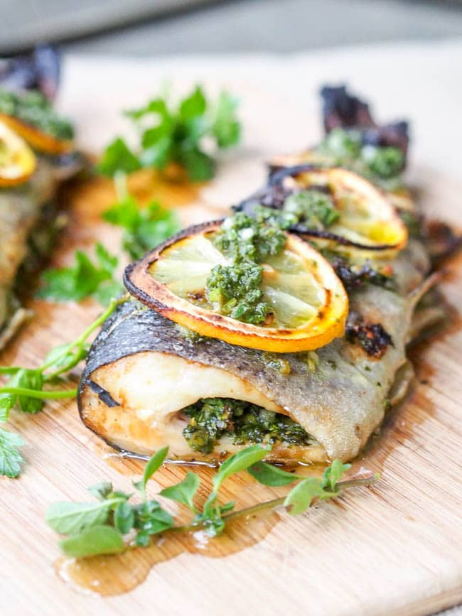 Broiled Trout with Parsley and Oregano