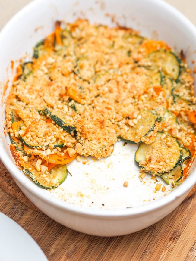 Gratin Vegan Recipe with Zucchini and Squash {Gluten-Free}