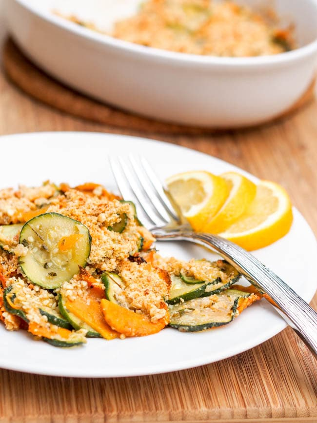 Vegan Zucchini and Squash Gratin