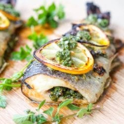 Broiled Trout with Parsley and Oregano {Gluten-Free, Dairy-Free}