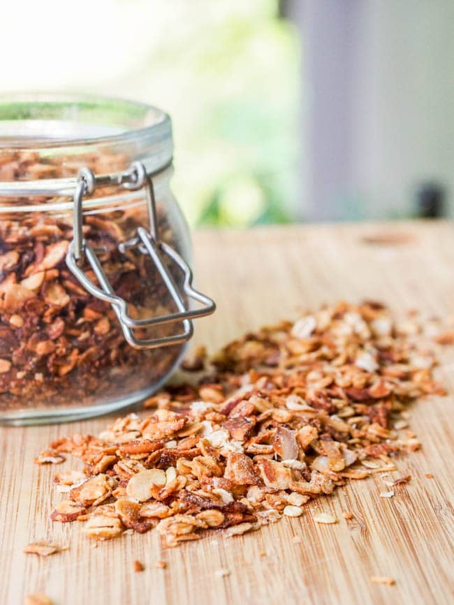 Vegan coconut almond granola