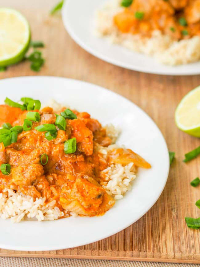 Thai Massaman Dairy Free Chicken Curry {Gluten-Free}