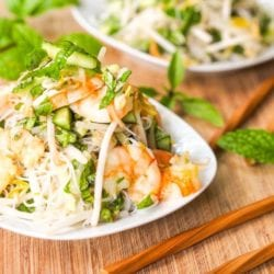 Spring Roll Salad with Shrimp and Herbs {Gluten-Free, Dairy-Free}