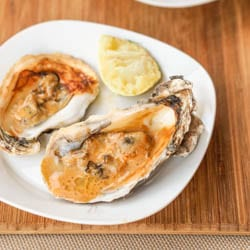 Broiled Oysters with Asian Sauce