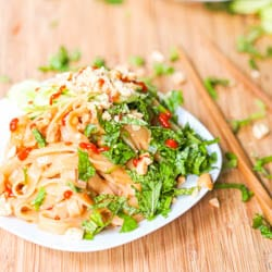Vegan Asian Sesame Noodles with Cucumber and Herbs Recipe GF