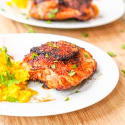 Honey Chicken Thighs with Paprika and Garlic {GF, DF}