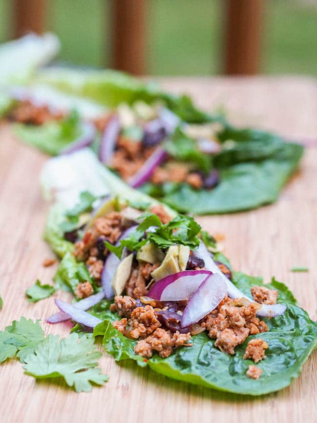 Mexican Turkey Taco Lettuce Wraps