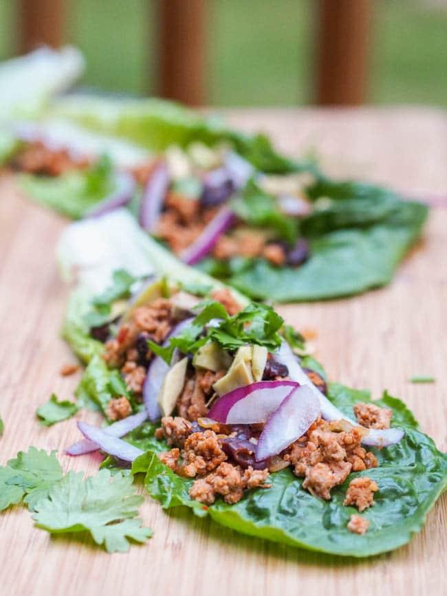 Mexican Turkey Taco Lettuce Wraps