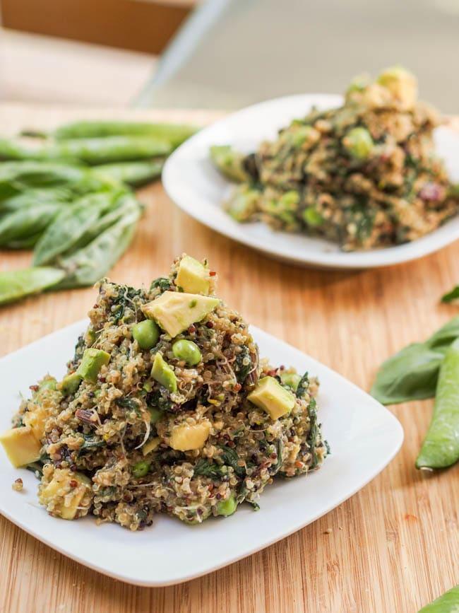 Vegan Green Quinoa Salad
