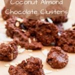 coconut cluster recipe pin