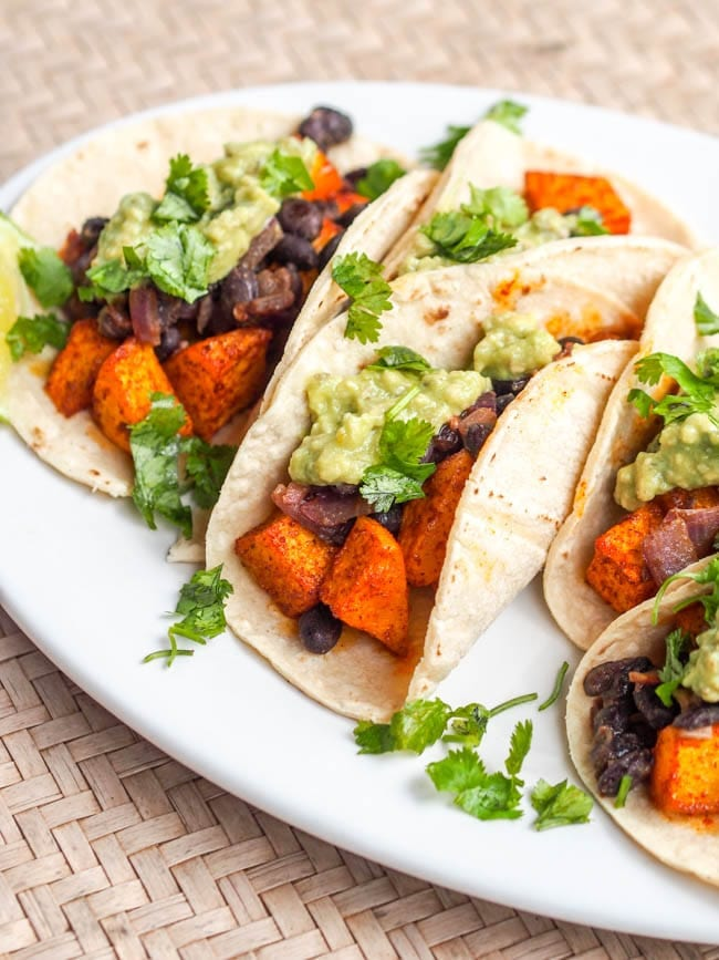 Butternut Squash Tacos ready to eat