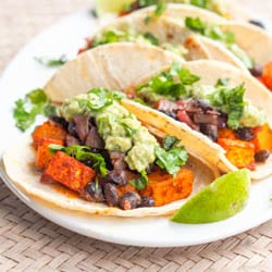 Vegan Butternut Squash Tacos with Chipotle Black Beans {GF}