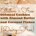 almond butter oatmeal cookies pin