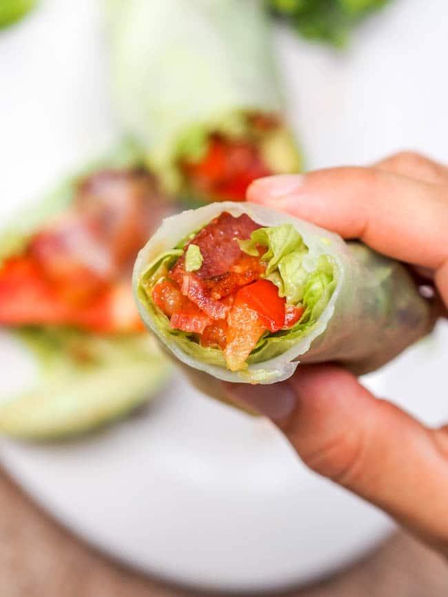 BLT Summer Roll Recipe with Avocado {Gluten-Free, Dairy-Free}