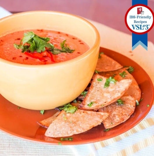 No Cook Vegan Low FODMAP Tomato Soup {Gluten-Free}