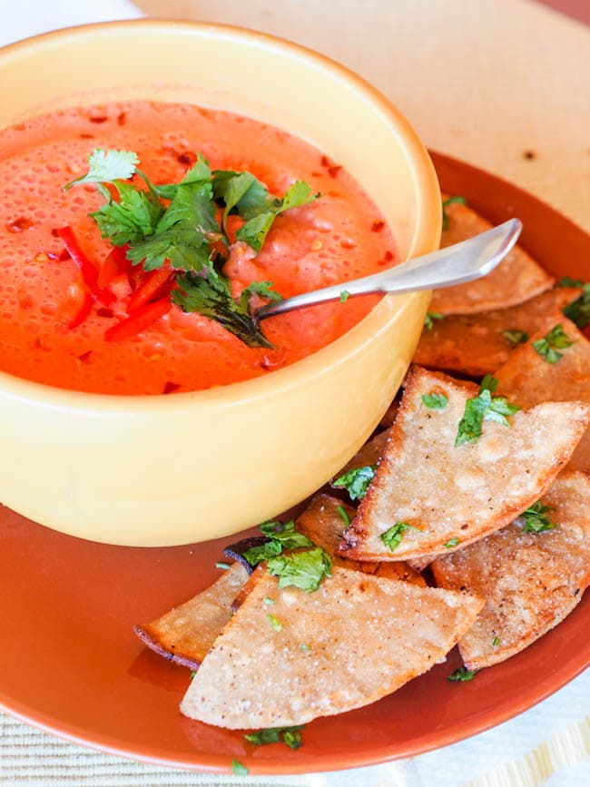 Low FODMAP Tomato Soup {No Cook, Vegan, Gluten-Free}