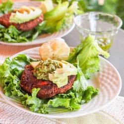 Vegan Chipotle Black Bean Veggie Burgers