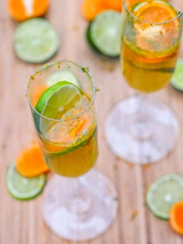Prosecco Mimosa with Clementines and Limes