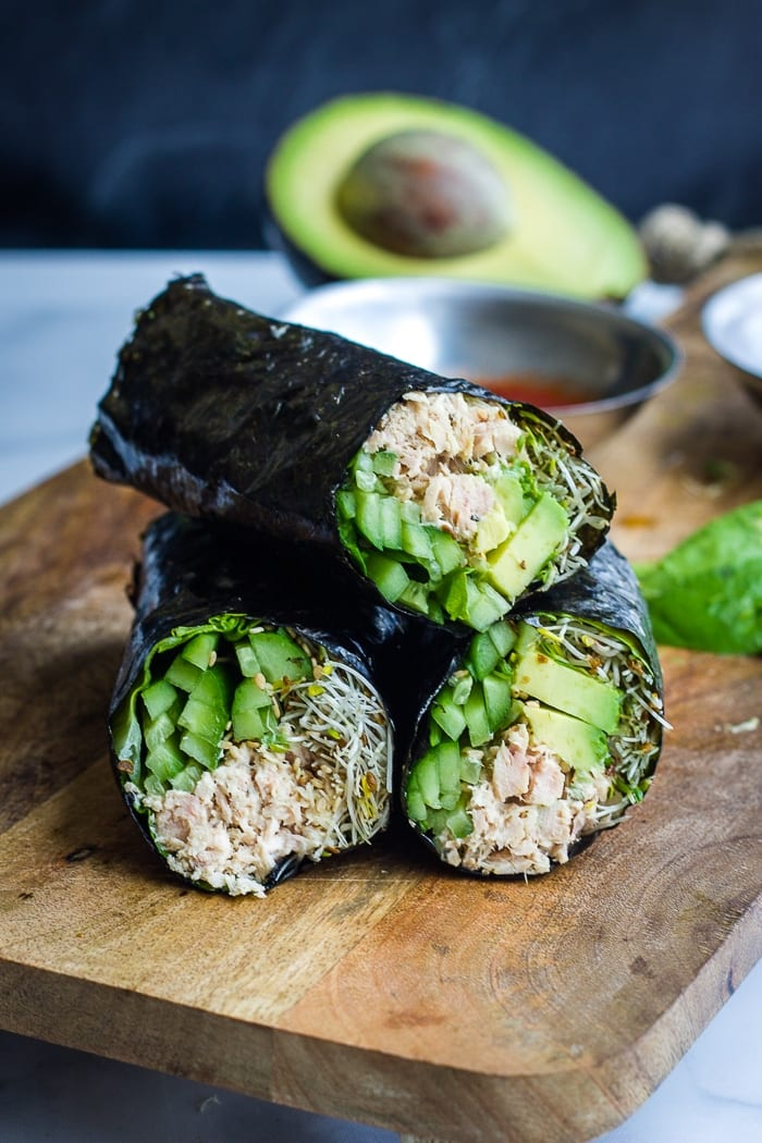 Nori Wraps with tuna