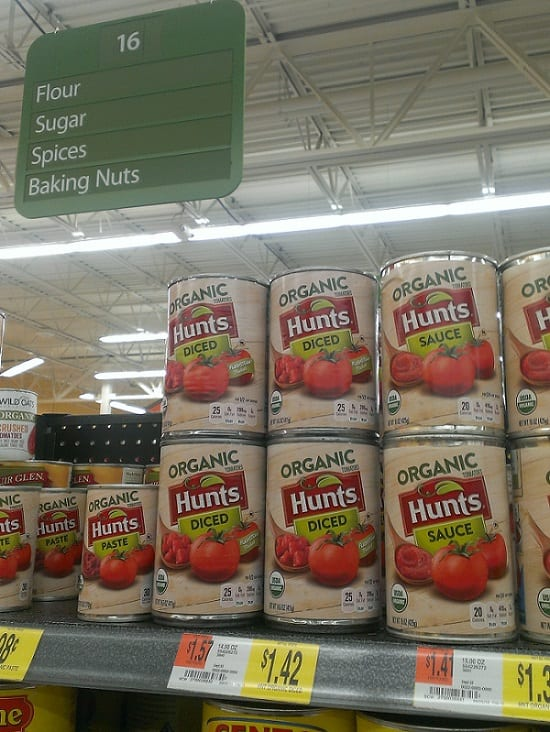 Purchasing hunt's diced tomatoes