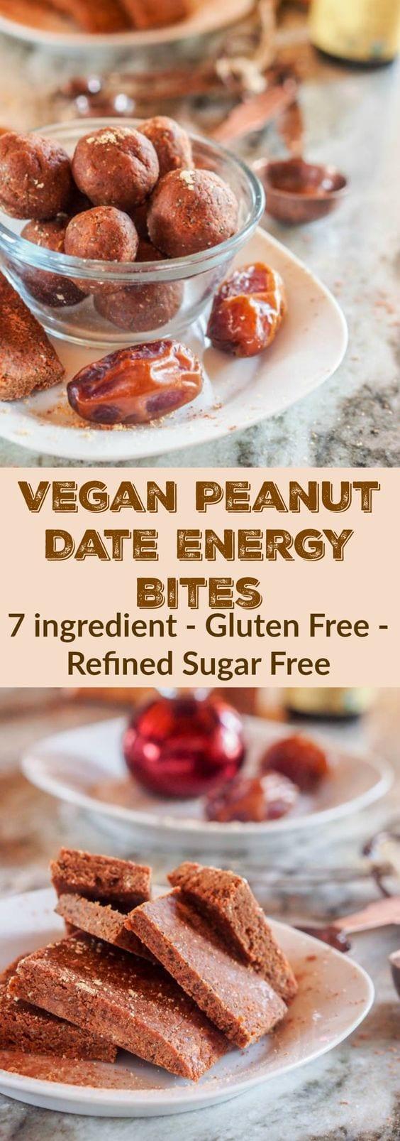 peanut butter date balls pin
