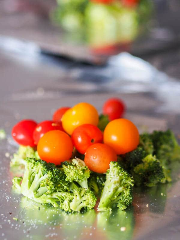 Broccoli Florets with Cherry Tomatoes