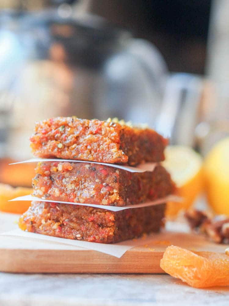 Dried Apricot Bars with Walnuts