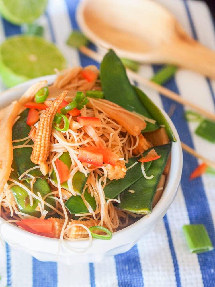 Vegan Asian Stir Fry ready to eat