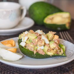 Healthy Tuna Avocado Egg Salad {Gluten-Free, Dairy-Free}