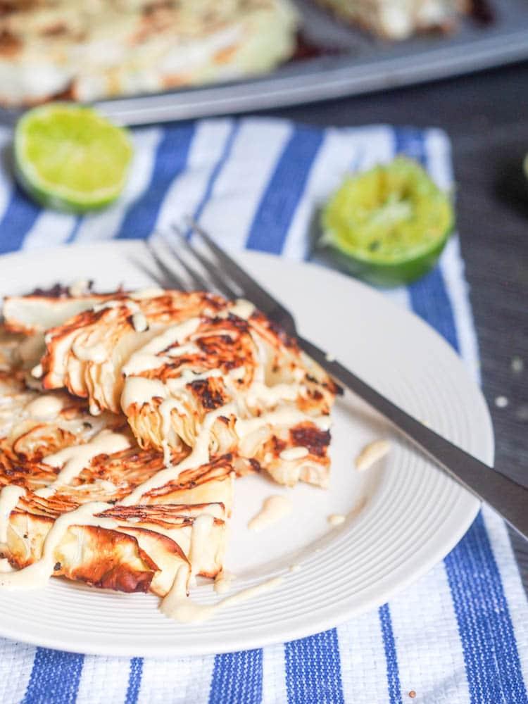Vegan Cabbage recipes with tahini sauce