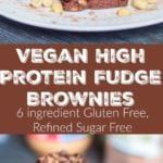 vegan protein brownies pin