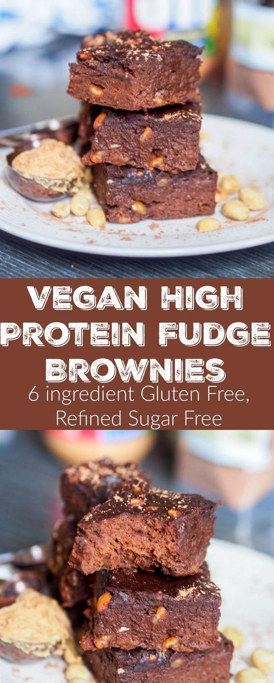 vegan protein brownies pin