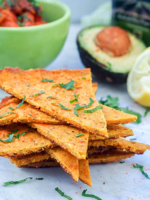 Chickpea Flatbread with Squash requires only 2 main ingredients and makes for a high protein delicious flatbread that can be topped with just about anything! Think simplified vegan pizza. Gluten-Free too. Perfect healthy dinner. | avocadopesto.com