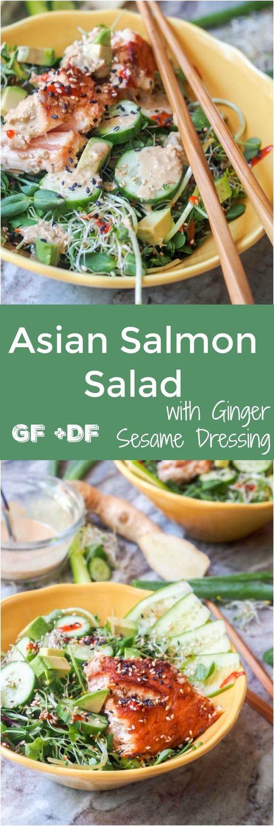 asian salmon salad pin