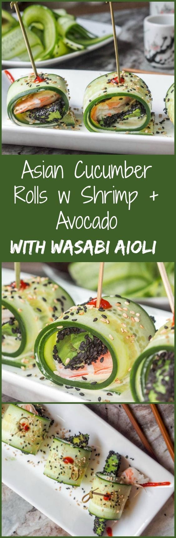 avocado cucumber roll pin