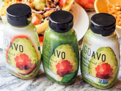 Go Avo Avocado sauce in 3 different flavors