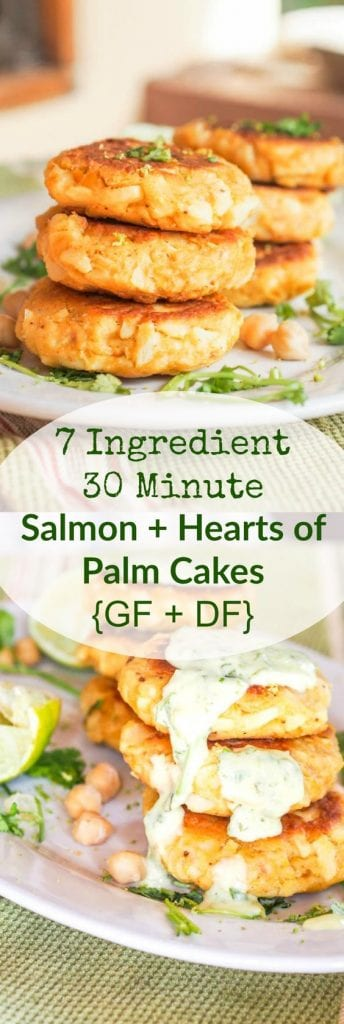 Salmon cakes with Hearts of Palm GF DF   avocadopesto.com