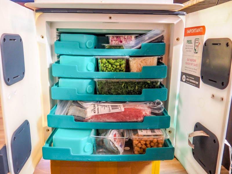 Terra's Kitchen fridge delivery full of ingredients