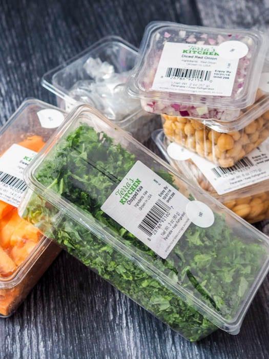 Terra's Kitchen prep ingredients in the packaging