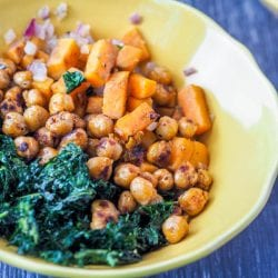 Vegan Power Bowls with Sweet Potato and Kale + Terra's Kitchen Review