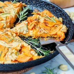 Vegan Butternut Squash Gratin with Creamy Rosemary Cashew Cream {GF, Paleo}