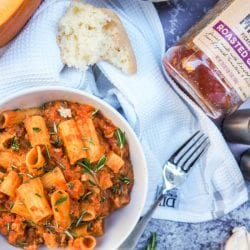 Chicken Bolognese with Pumpkin and Rosemary