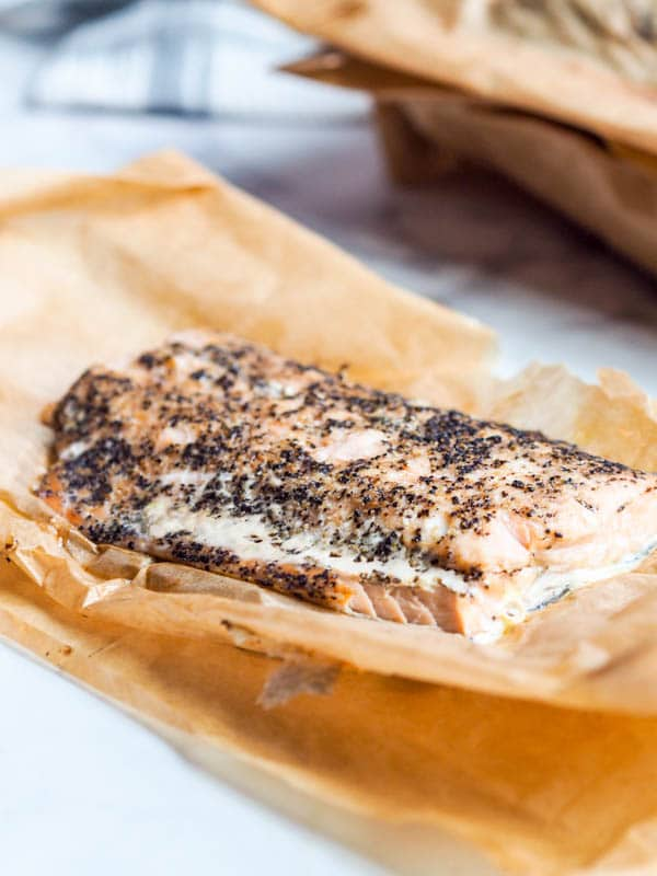 parchment Salmon oven roasted