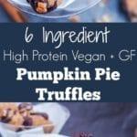 pumpkin pie truffles pin