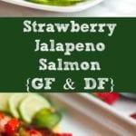 strawberry salmon pin