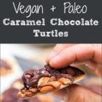 vegan caramel turtles pin