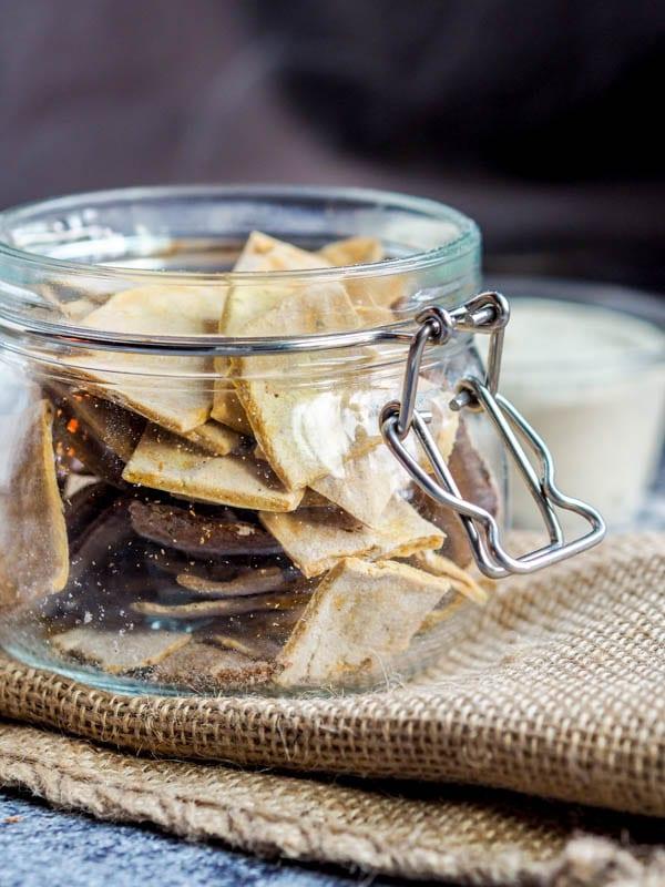 Gluten Free Crackers with Pumpkin in a jar